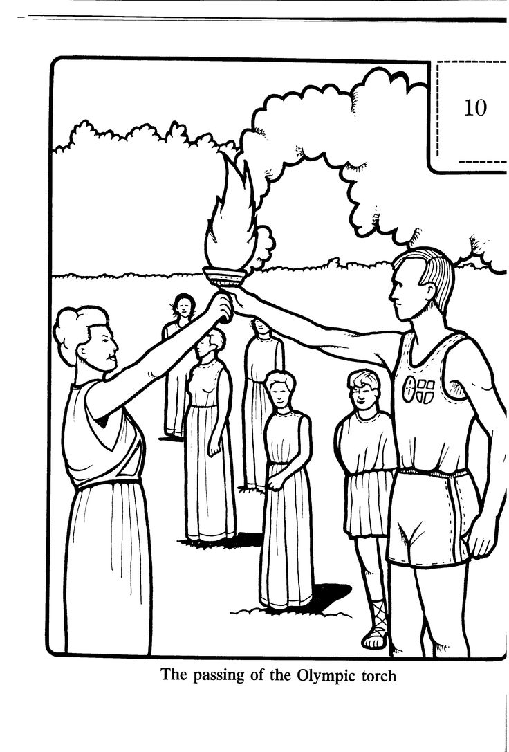 The passing of the Olympic torch - Colouring Sheets