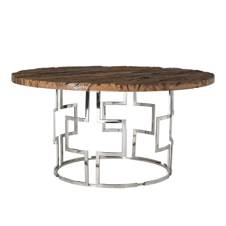 9864-Kensington tafel - eettafel rond recycled hout van Richmond