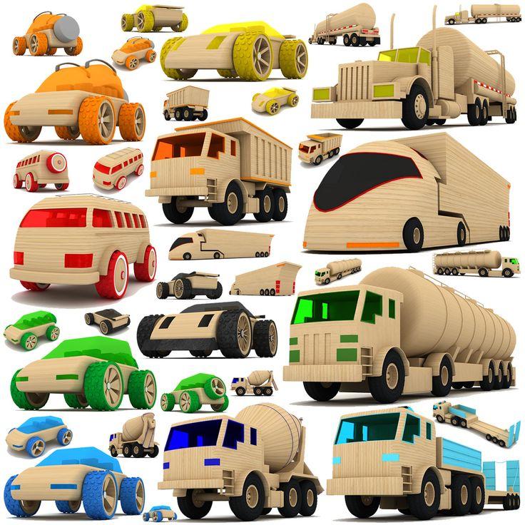 3d Wooden Toy Cars Trucks Wooden Toy Cars Wooden Car Wooden Toy Trucks