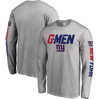 1b3f07993c1 MEN S WEARING APPAREL New York Giants NFL Pro Line Hometown Collection Long  Sleeve T-Shirt - Heather Gray