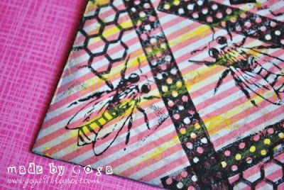 #smashbook elements made by Goga using #bee and #honeycomb #stamps from 3rd Eye http://3rdeyecraft.com <3