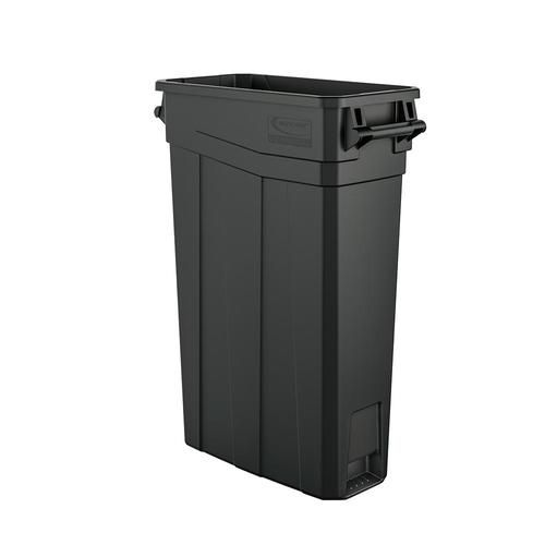 Skinny Plastic 23 Gallon Slim Trash Can With Handles Outdoor Indoor Cans Recycle Bins Ashtrays For Commercial Office Or Home