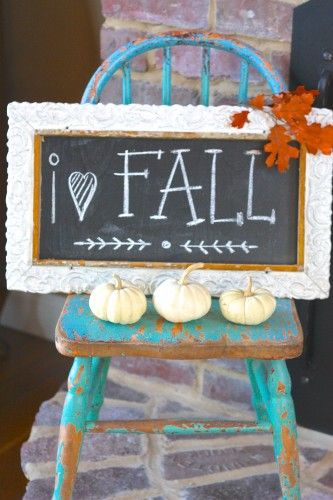 Fall chalkboard (from the 2013 Fall home tour at Sugar Pie Farmhouse)