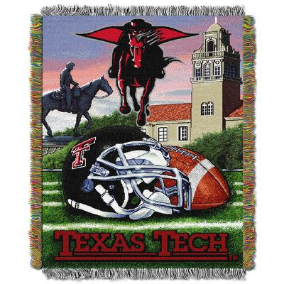 Northwest Co. NCAA Texas Tech Tapestry Throw Blanket
