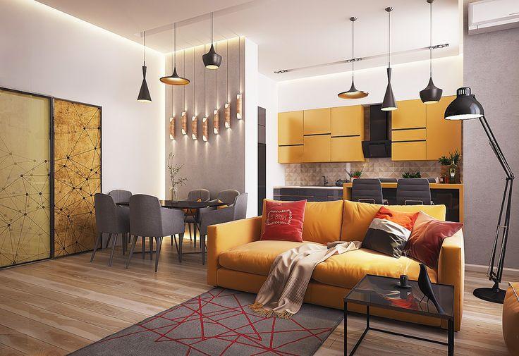 Дизайн квартиры-студии: 80 трендов для создания современного и мультифункционального интерьера http://happymodern.ru/dizajn-proekt-kvartiry-studii/ Открытая планировка - способ сделать весь интерьер квартиры светлее и воздушнее Смотри больше http://happymodern.ru/dizajn-proekt-kvartiry-studii/