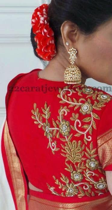 Jewellery Designs: Shreedevi Regal Diamond Jhumkas