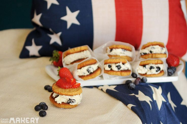 red white blue cookie sandwich camps sandwich patriots united states ...