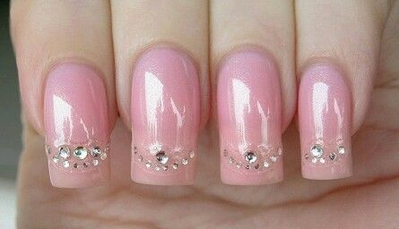 Soft Pink nails Design