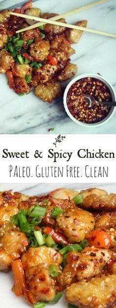 Sweet and Spicy Chicken Paleo, Gluten Free, Grain Free, & Dairy Free