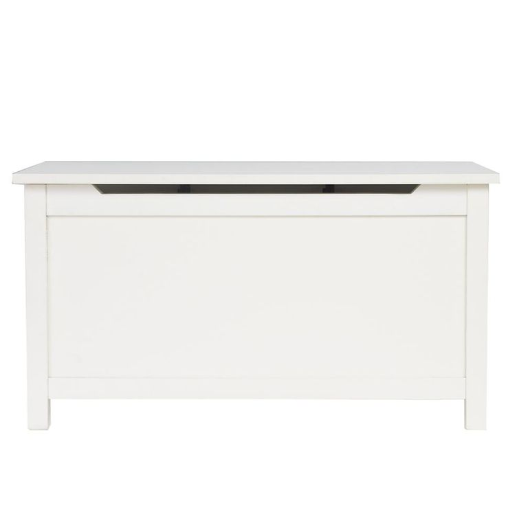 Kids Toy Chests: Kids Solid White Toy Box | The Land of Nod