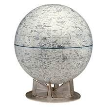 White 12 Inch Moon Globe w Contemporary Cradle Stand