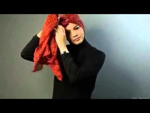 Tutorial Hijab Pashmina Turban Shawl Side Knot Tutorial Hijab Modern Model Hijab Terbaru - YouTube