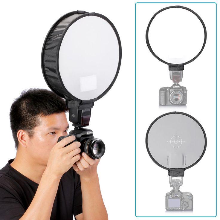 """Neewer 16""""/40cm Round Flash Diffuser Softbox with 18% Grey Balance Card for Canon 430EX II,580EX II,600EX-RT,Nikon SB600 SB800 SB900 380EX,Neewer TT560,TT680,Yongnuo YN560,YN565 Speedlight. Compatible with all Canon 430EX II,580EX II,600EX-RT,Nikon SB600 SB800 SB900 380EX 430EX,,Neewer TT560,TT680,TT850,TT860,Yongnuo YN560,YN565,YN568 speedlight and other external flashes.   eBay!"""
