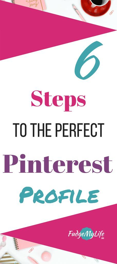 If you are wondering how you can improve your Pinterest Profile, you should take a look at these 6 easy things you can do. It will help you to achieve the perfect pinterest profile and make your amount of followers increase. So be sure to implement these tips to optimize your pinterest profile. It will increase your pinterest reach and your pinterest followers. - 6 Ways to Improve Your Pinterest Profile #pinterest #socialmedia | FudgeMyLife.org