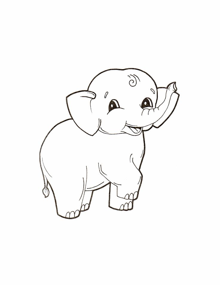 Cute Baby Elephant Coloring Page From Elephants Category Select 26977 Printable Crafts Of Cartoons Nature Animals Bible And Many More