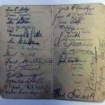 Signed Bradford Park Avenue dinner menu 1913/14 season
