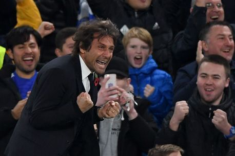 Great picture of Mr Conte and fans.