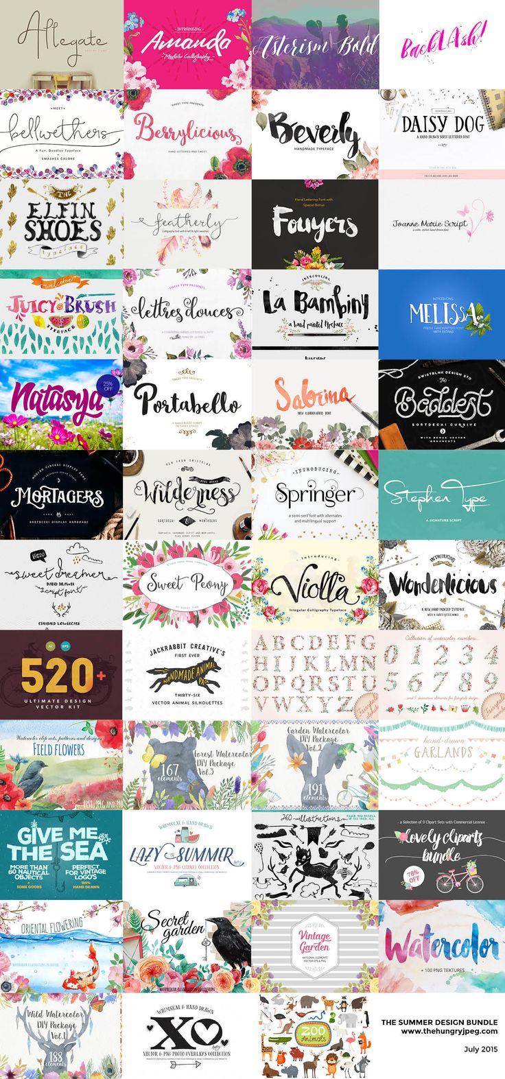 Bon plan : 28 typographies fraîches pour vos créations d'été