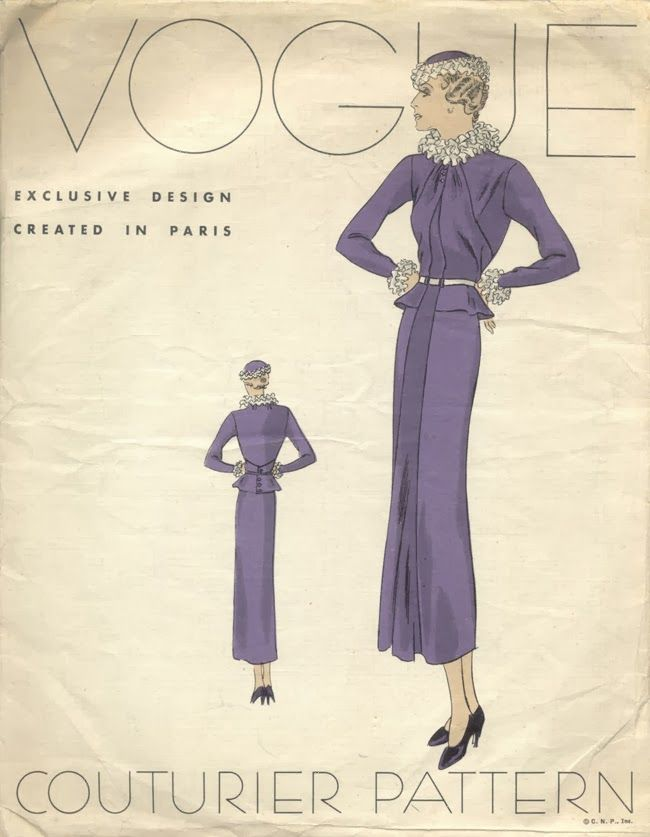 A Brief History of Paper Patterns and Home Dressmaking in the 1930s