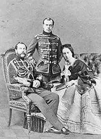 Alexander II - During his bachelor days, Alexander made a state visit to England in 1838. Just a year older than the young Queen Victoria, Alexander's approaches to her were indeed short-lived. Victoria married her German cousin, Albert of Saxe-Coburg in February 1840. On 16 April 1841, aged 23, Tsarevitch Alexander married Princess Marie of Hesse in St Petersburg, thereafter known in Russia as Maria Alexandrovna.