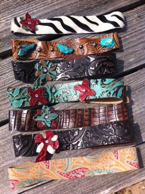 Beautiful Genuine Leather Gypsy Cowgirl Headbands-Beautiful Genuine Leather Gypsy Cowgirl Headbands
