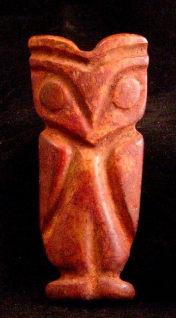 Carchi Bone Owl Colombian / Ecuador. 800-1250 AD
