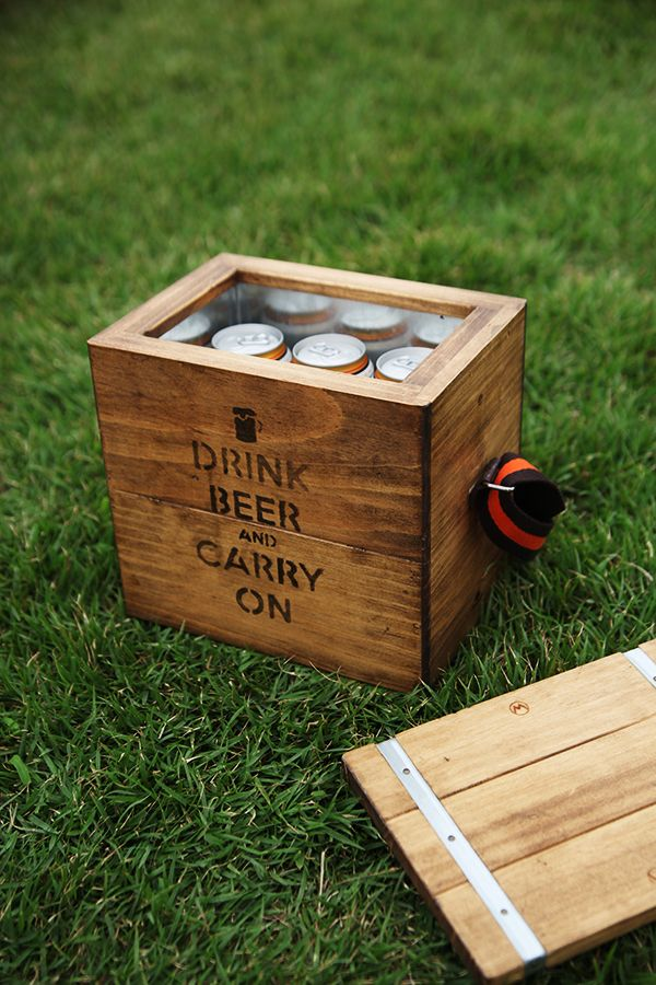 Wooginoki Beer Box  #cooler #woodbox #camping