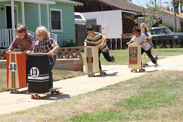 Like those old-fashioned roller skate scooters, but better!