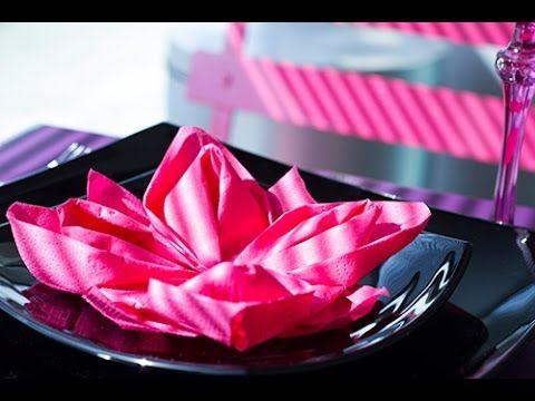 17 meilleures id es propos de pliage serviette lotus sur pinterest pliage serviette simple - Origami fleur de lotus ...