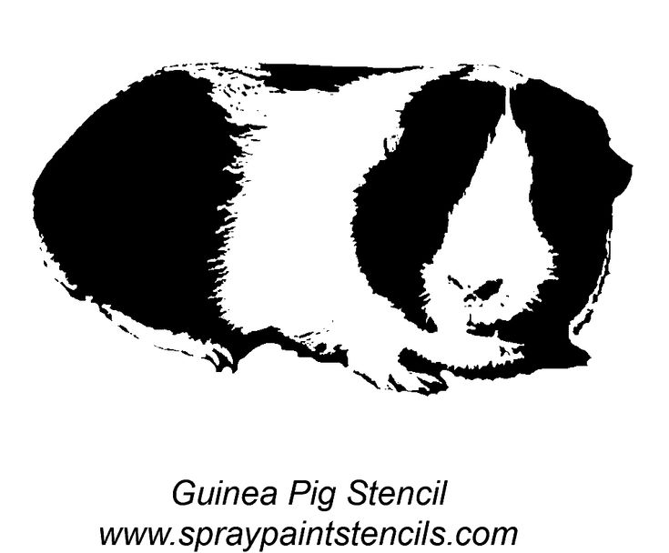 Guinea Pig Stencil! The Site Has Other Free Printables To