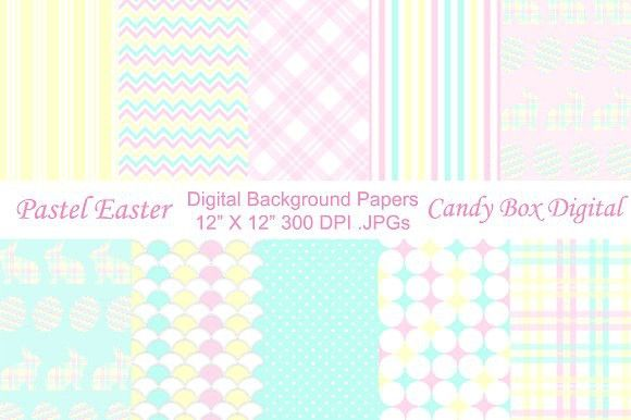 Pastel Easter Background Papers. Patterns. $7.00