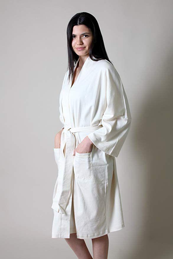 Viverano 100% Organic Cotton Women s Spa Bath Robe Kimono ... ea54b360b