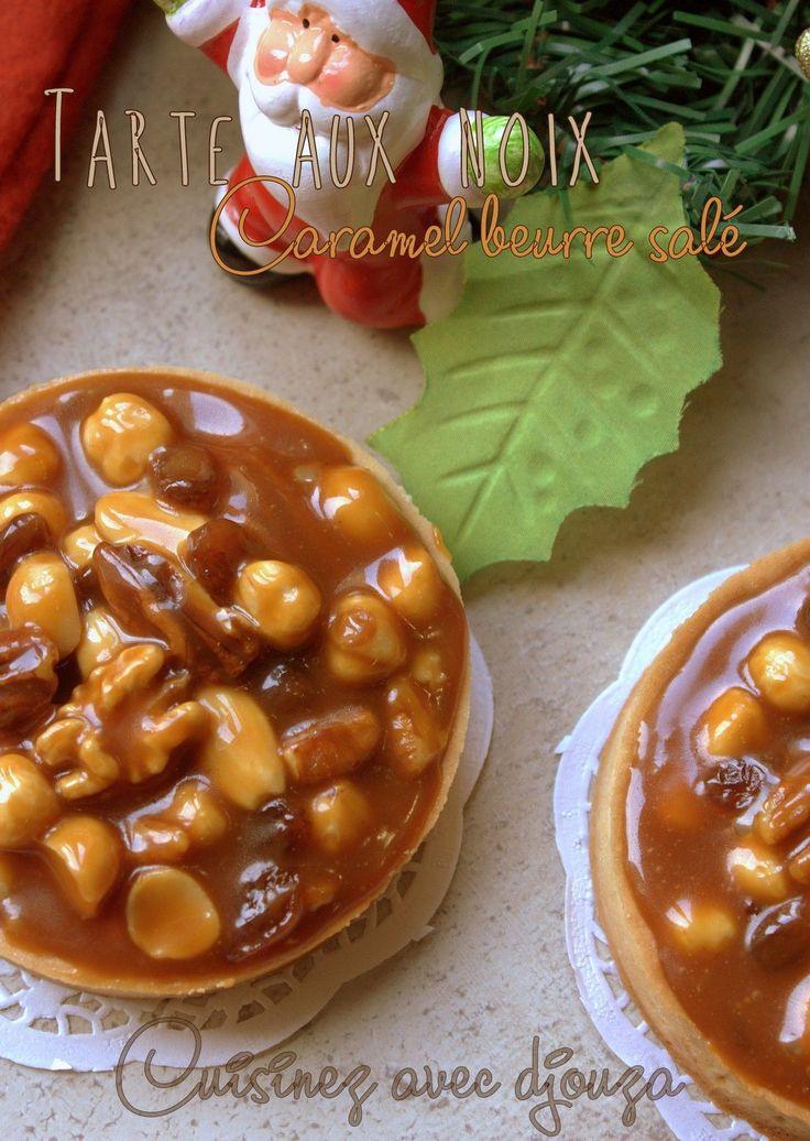 Ces petites tartes sont divines, gourmandes et au final très faciles : Avec cette recette de tarte aux noix et fruits secs au caramel beurre salé, vous