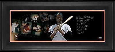 Willie McCovey SF Giants Framed Signed 10x30 Filmstrip Photo with Multiple Insc