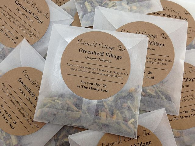 wedding shower favor idea make individual packets of a favorite tea to give to guests