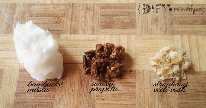 Suroviny na výrobu propolisové mastičky