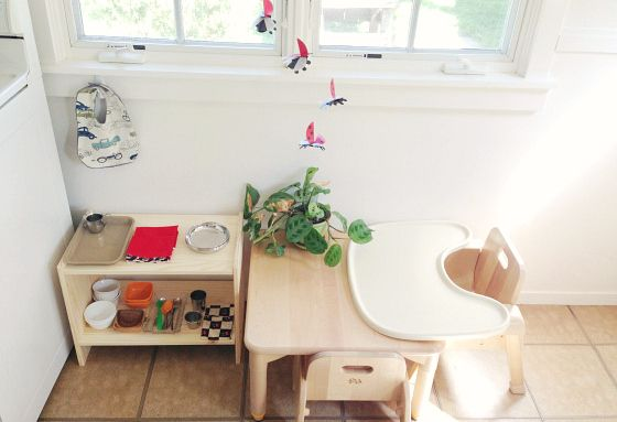 Above and below the environment of the child from birth to 3 years at Montessori International School of Athena. Above shelving and play-space at Odrai blog. This is a really lovely site! Above a multi age home learning space at Montessori Fi Bayti. Above an infant area at Familyandco blog,...
