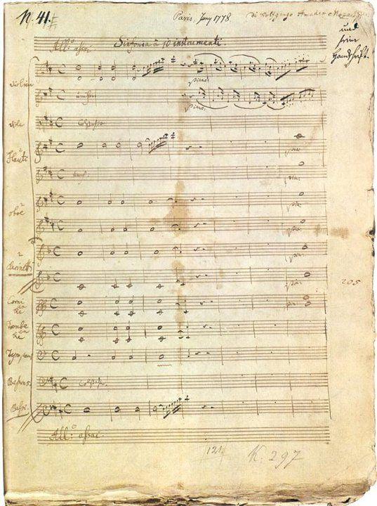 Wolfgang Amadeus MOZART. Symphonie n° 31en ré majeur