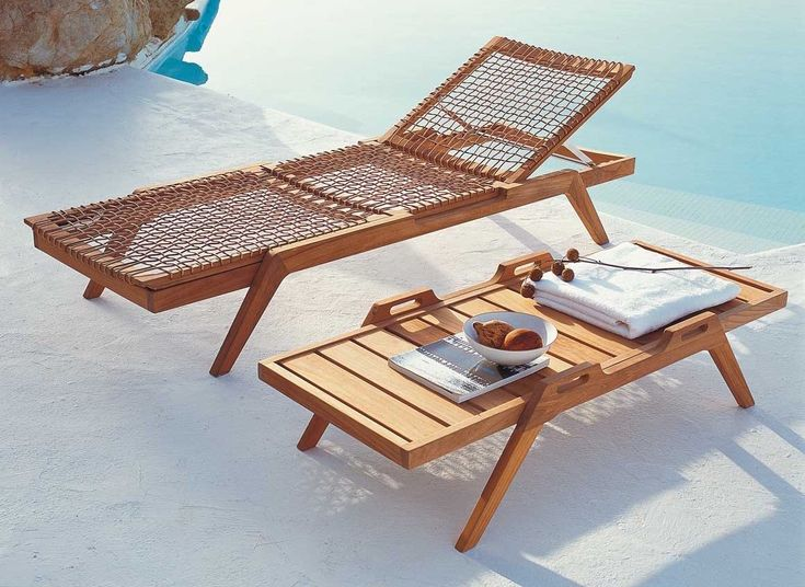 teak outdoor furniture synthesis from unopiu serene from henry hall - Garden Furniture Loungers