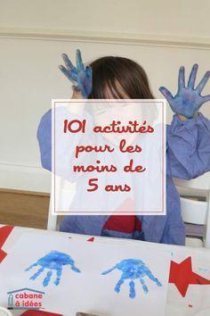 Afocal Bretagne. 101 idées d'activités à faire avec un jeune enfant de moins de 5 ans.  Pensez à tester votre activité en amont !