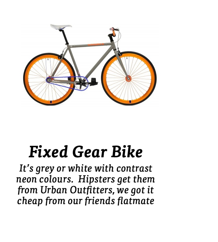 Fixed gear bike....