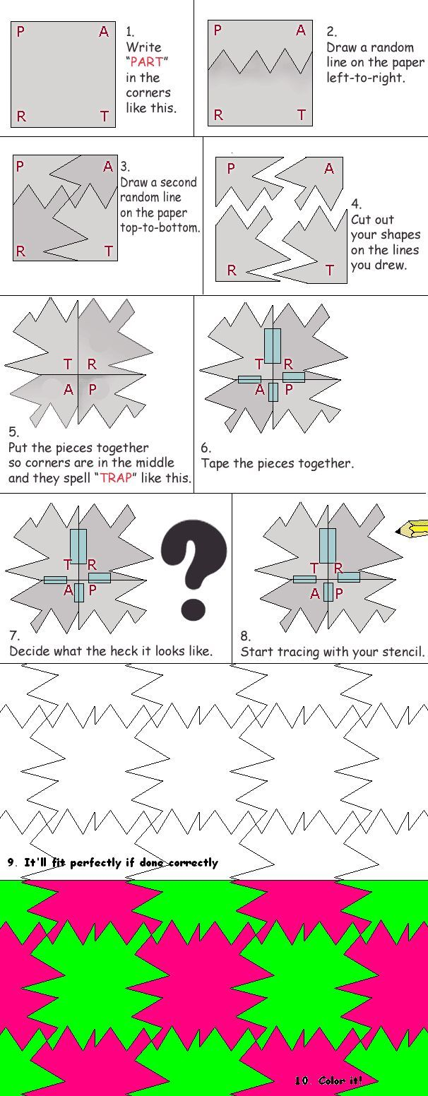 Make-your-own Tessellation Lesson - Paper cut method Perfect while learning  about MCEscher. Tessellation is the process of creating a two-dimensional  plane ...