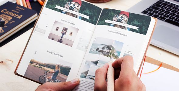 Zlog is a combination of clean design and flexible functionality will help blogger, traveler, photographer or anyone… tell the stories of their adventures in a distinctive way. http://themeforest.net/item/zlog-a-responsive-wordpress-blog-theme/12961924?s_phrase=&s_rank=20?ref=jyostna