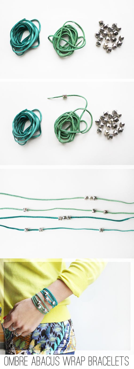 Ombre Abacus Wrap Bracelets