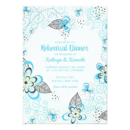Rustic Light Blue Country Wedding Rehearsal Card - wood wedding style nature diy customize personalize marriage