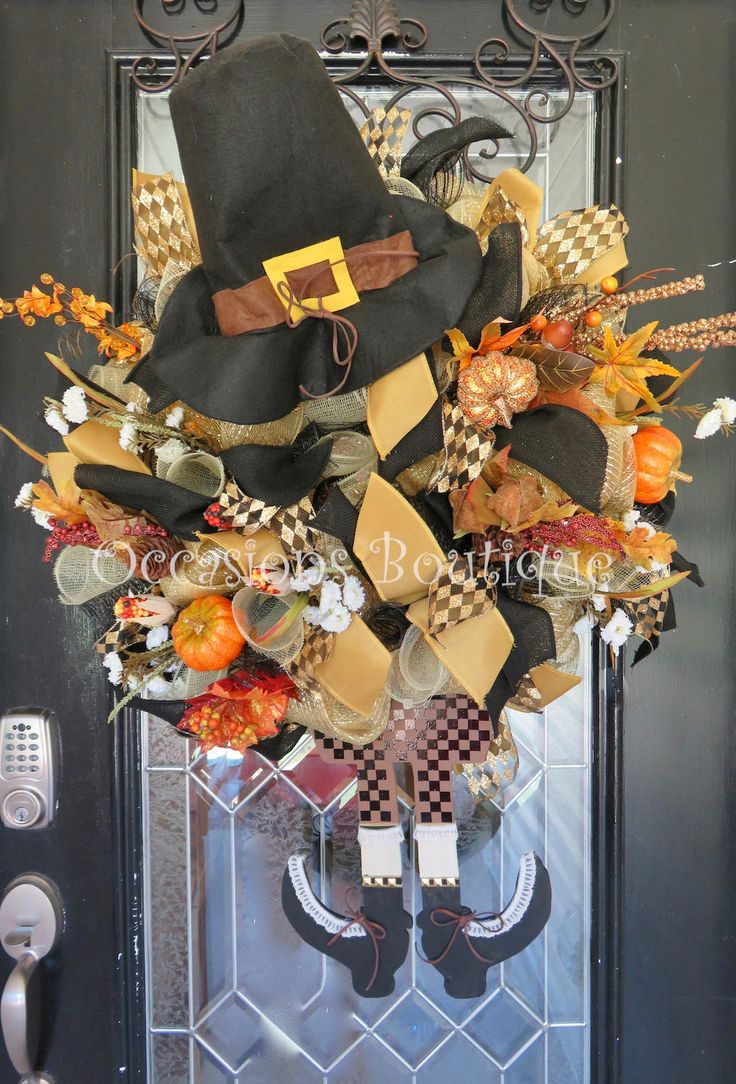 Fall Wreath, Autumn Wreath, Door Hanger, Large Wreath, Outdoor Wreath, Wreath for Door, Pilgrim decor, Thanksgiving Decor by OccasionsBoutique on Etsy
