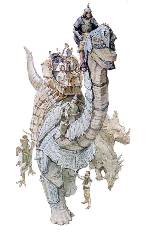 Montadores de dinossauros. Dinotopia - O Mundo Subterrâneo.