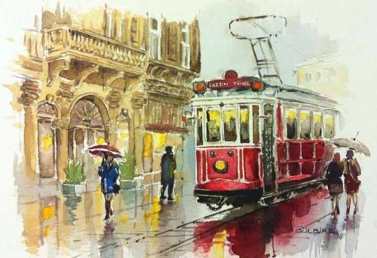 istanbul watercolor