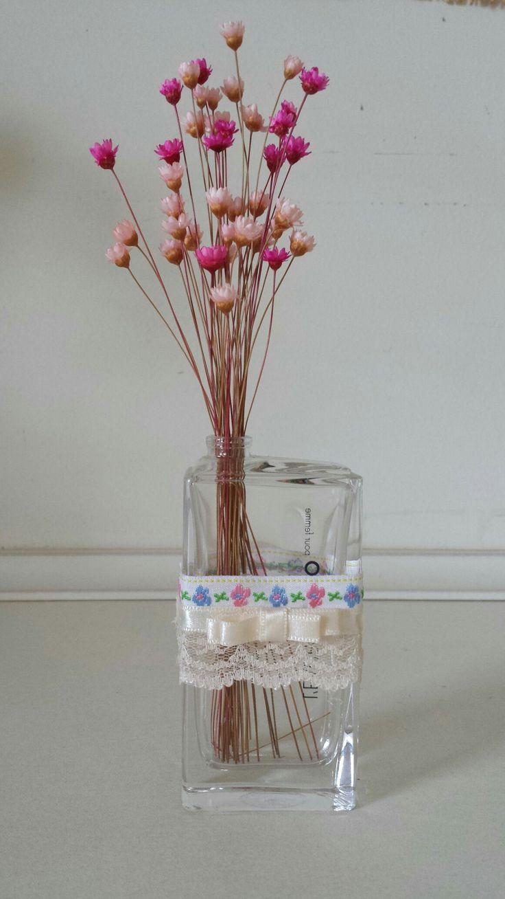 Aproveitando os vidros de perfume