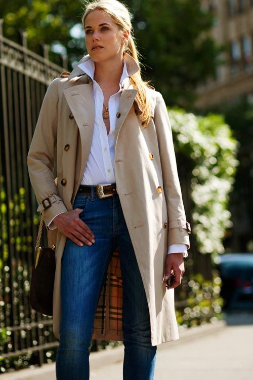 BurberryFashion, Casual Friday, Style, Burberry A Classic, White Shirts, Jeans, Burberry Trench, White Blouses, Trench Coats